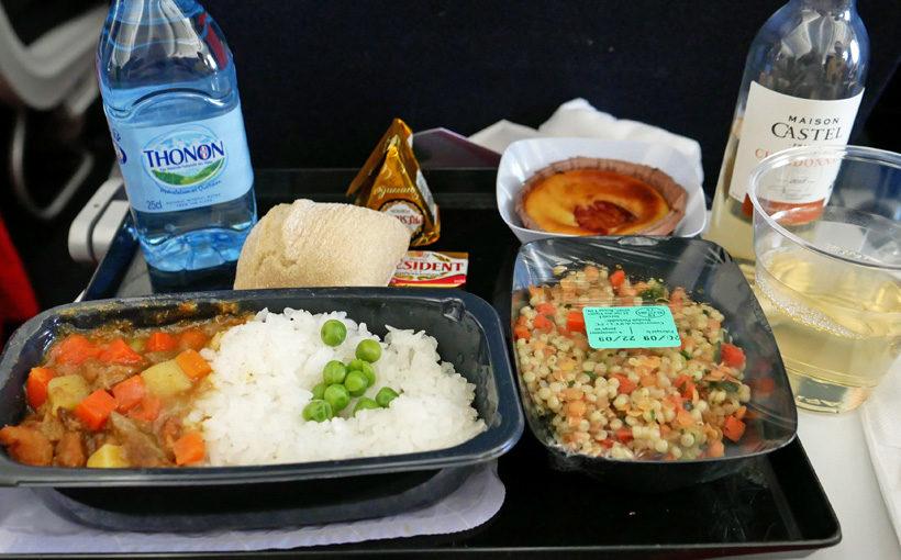 エールフランス 帰国便の機内食