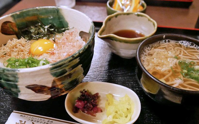 京都・出町 「田舎亭」の玉子かけご飯セット