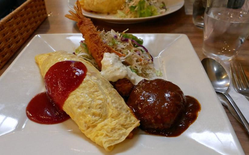 京都・三条 「珈琲工房てらまち」のお昼のオムライスプレートと「ダウントン・アビー」