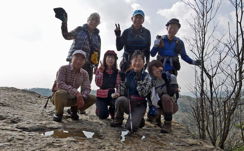 六甲 地獄谷から岩梯子と岩をよじ登る