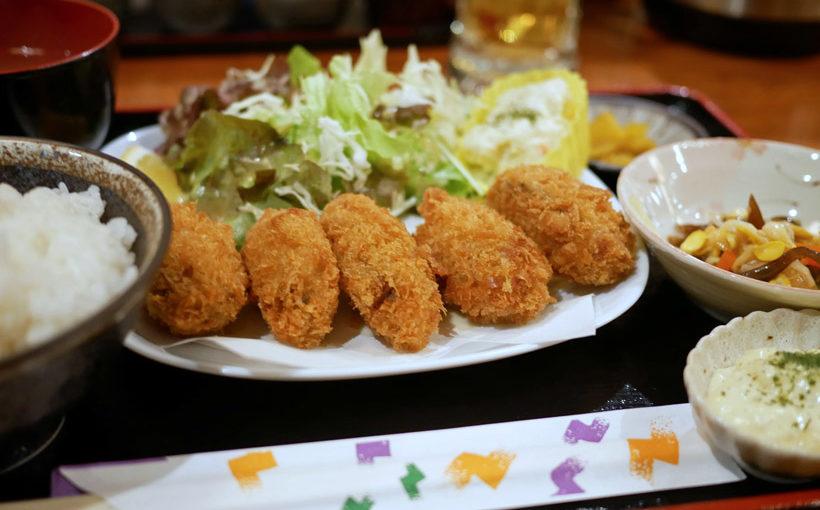 高槻 「炭火焼き 鳥とん」のカキフライ定食
