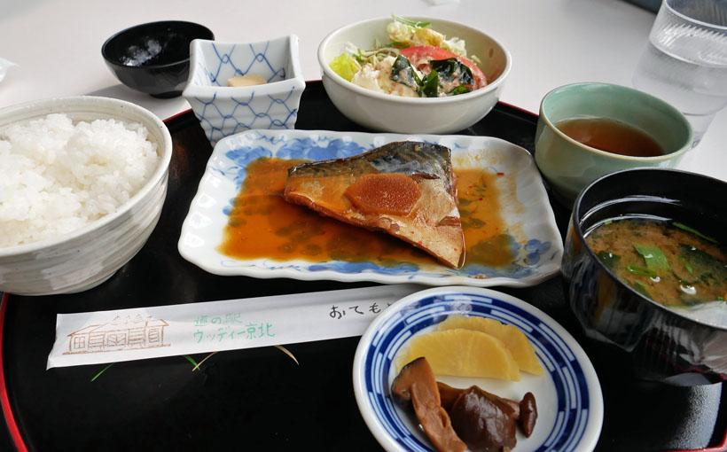 京都・周山 ウッディー京北の「京北のおばんざい定食」