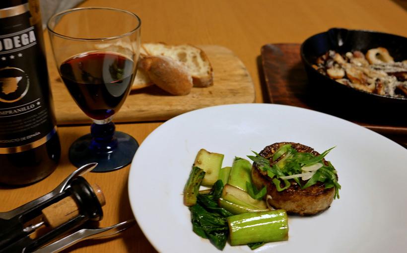 今夜の一献 大根ステーキとちくわペペロンチーノ