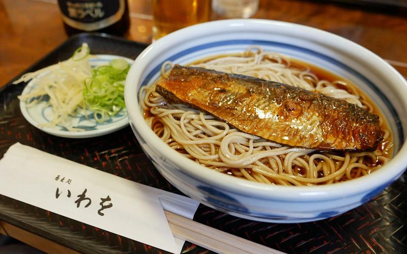 京都・嵐山 「蕎麦処 いわを」の冷やしにしん